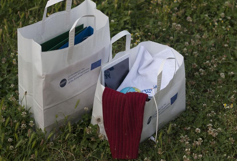 Brick bottom paper bag for CSOs