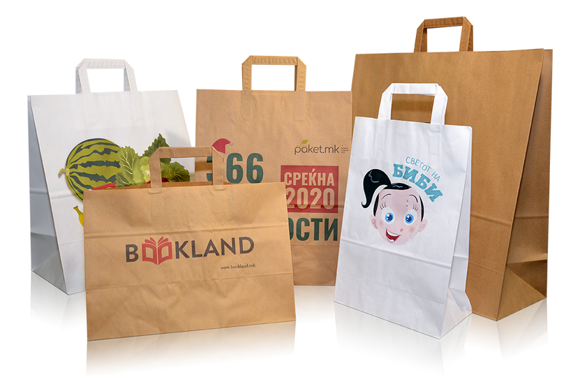 Paper carrier bags for retail