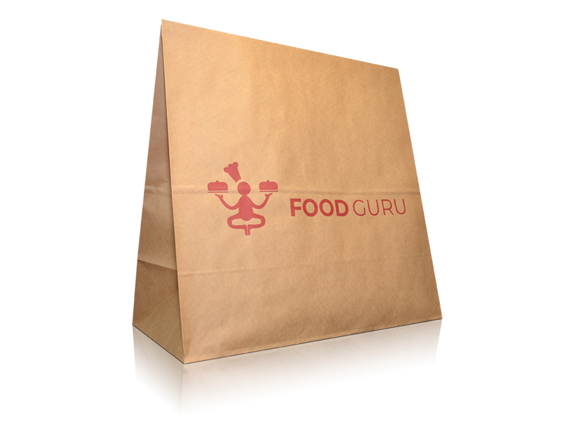 """Take Away"" paper carrier bag"